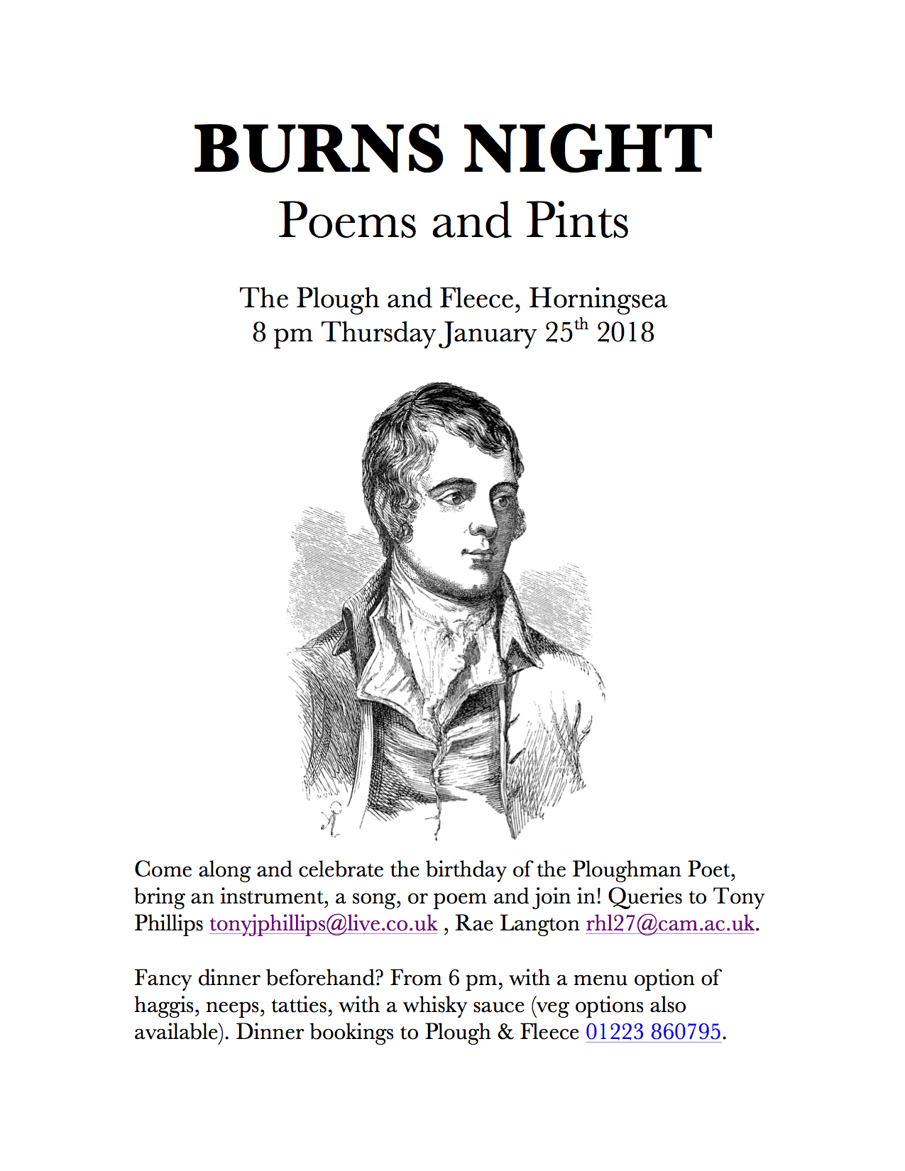 BURNS NIGHT POEMS AND PINTS FLYER